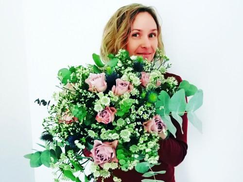 Blumenstrauß-Kunst im Gutshaus1704